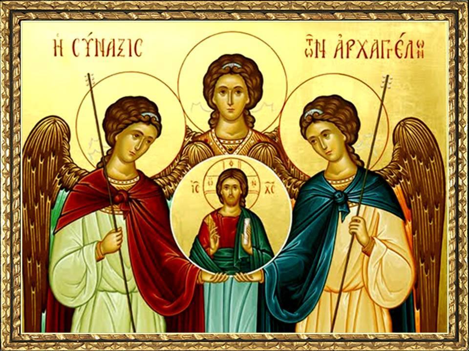 """""""¡Alabado sea Dios por sus santos Ángeles! Que sus mensajes calen en nuestro corazón para que sepamos reconocer a Cristo, seguirlo y alabarlo""""."""